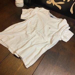Tommy Hilfiger crewneck knit white top size medium